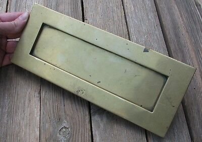 """Old Brass Letter Box Plate / Mail Slot / Mailbox 10"""""""