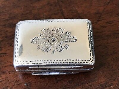 William Iv Solid Silver Vinaigrette By Francis Clark 1835