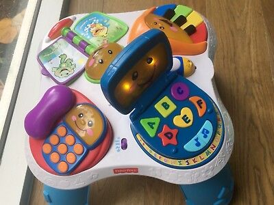 Fisher price bilingual learning table baby toddler activity english portuguese
