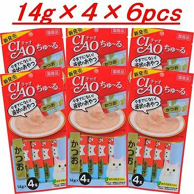 INABA CIAO Churu Cat Lick Bonito14g ×4 ×6pcs cat food