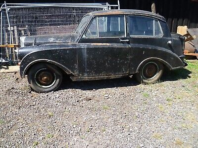 Triumph Mayflower 1952 barn find complete for brave  restoration or spares v5c
