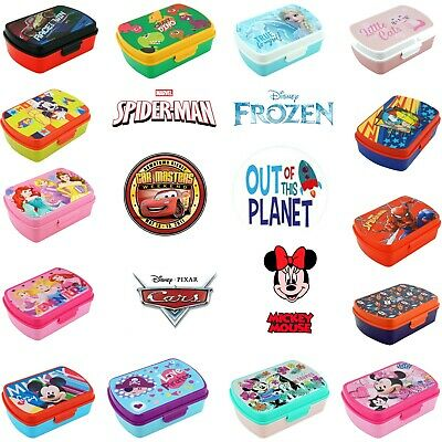 Kids Lunchbox w Cutlery Sandwich Box School Nursery Travelling Girls Boys 3+y