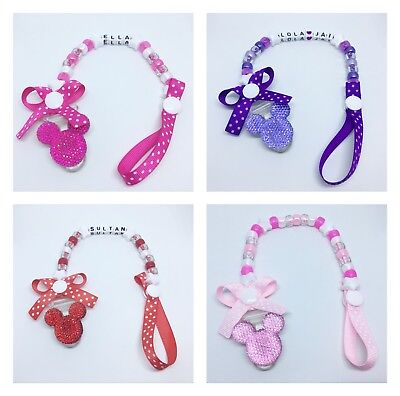 Personalised Baby Girls Dummy Clip Pacifier/Soother saver SALE!! Free P&P!!