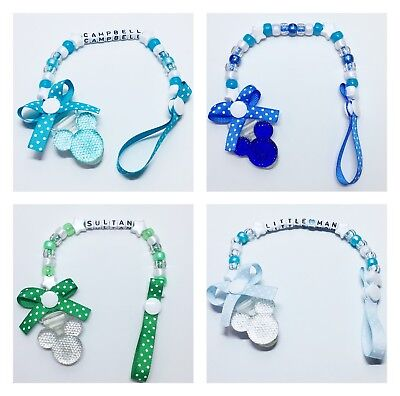 Personalised Baby Boys Dummy Clip Pacifier/Soother saver SALE! FREE P&P!