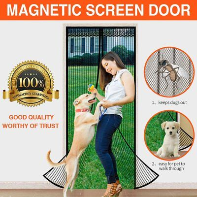 Looch Magnetic Screen Door with Heavy Duty Mesh Curtain and Full Frame Velcro