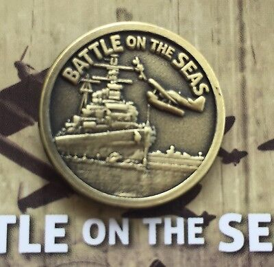 WW11 Battle on the Seas (RAN) Badge Lapel Pin *NEW *Remembrance Day * ANZAC Day