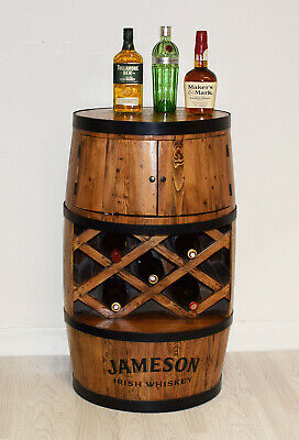Drinks Cabinet Whiskey Barrel Wine Gl With Doors