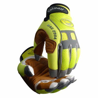 Caiman 2984-5 Rappelling  Rope Handling Glove with Goatskin Palm  Pig Grain