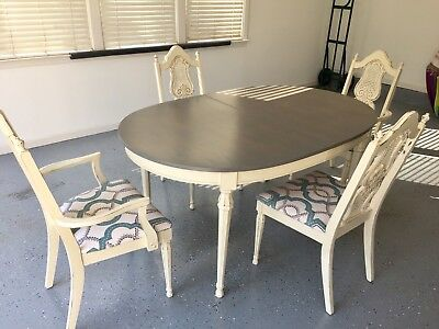 Refinished Antique Table And 4 Chairs