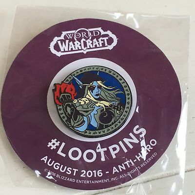 World Of Warcraft Anti Hero Pin Loot Crate Exclusive 2016 WoW LootCrate