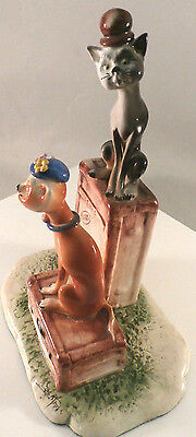 Vintage CAT SCULPTURE! (Retail>$135) GREAT GIFT! Artist Signed-Hand Painted
