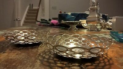 PAIR of Sterling Silver Trinket, Bonbon, Bon Bon, Dishes, Bowls, Weight: 68g
