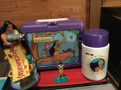 DISNEY'S POCAHONTAS COLLECTABLE PLASTIC LUNCH BOX Plus bonus Bubble Bath
