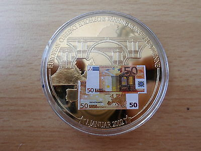 Medaille 50 Euro Banknote 50 mm Gigant  53 g