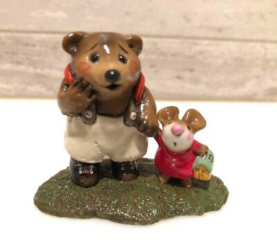 Wee Forest Folk Mousie's Big Pal Bear & Mouse M-245 Hand Signed by Annette