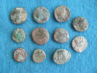 RARE and SCARCE Lot of 11 Greek coins 300-100 B.C.