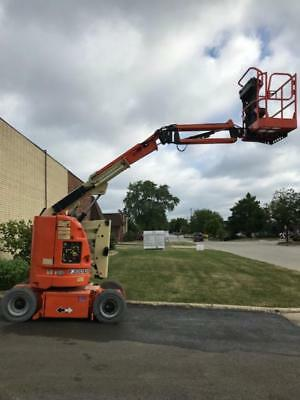 2012 JLG E300AJP electric articulated boom with a rotating jib!!!!