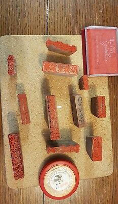 Vintage wooden Chinese printing blocks with provenance