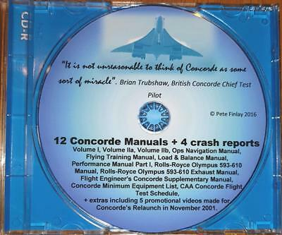CONCORDE -  12 Flying Manuals on CD, - over 5,000 pages + many free extras