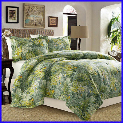 [No Tax] Tommy Bahama Cuba Cabana 4-piece Comforter Set. size Queen & King
