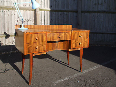 Original mid-century vintage desk, unusual and very stylish, excellent workdesk