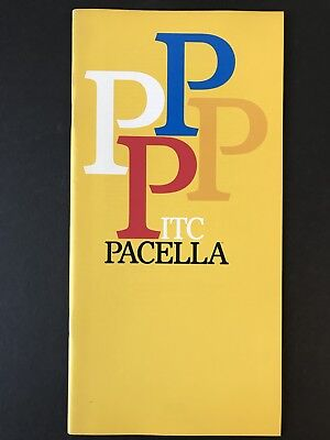 ITC Pacella, Type Specification Book, 1987, 36 pages with covers, graphic design