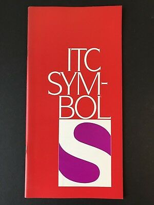 ITC Symbol. Type Specification Book, 1984, 36 pages with covers, graphic design