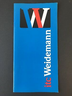 ITC Weidemann, Type Specification Book, 1983, 36 pages with cvrs, graphic design