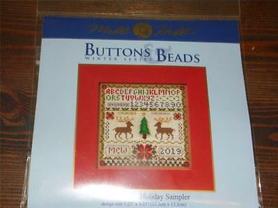 MILL HILL Buttons Beads Kit Counted Cross Stitch HOME FOR THE HOLIDAYS MH14-2301