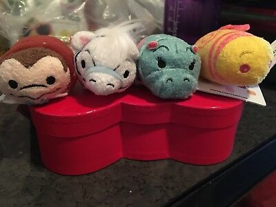 Authentic Disney Parks Fantasyland Tsum Tsum Lot Of 4 Teacup Mr Toad NWT!
