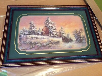 "Homco/Home Interiors Framed Picture By Lee Parkinson ""Almost Home "" NIB 1325"