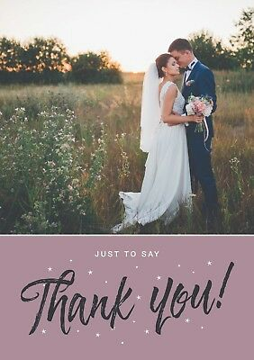 Thank You Cards, Wedding Thank You, Civil Partnership Thank You, Personalised
