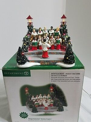 """Dept. 56 Village Animated """"Holiday Singers"""" 56.52505"""