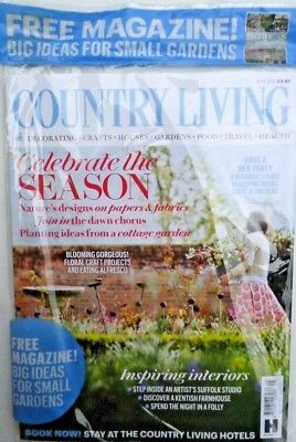 Country Living Magazine Issue May 2018 In Pack With Free Gardens Mag ~ New ~