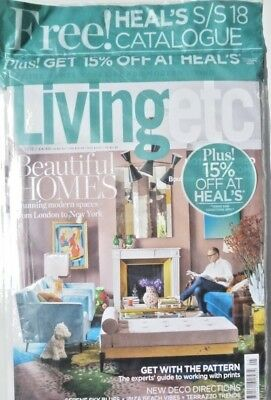 Living Etc Magazine May 2018 With Heal's S/s 18 Catalogue Plus 15% Of At Heal's