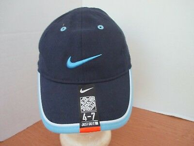 huge selection of 4c295 87d61 Nike~Navy Blue with Light Blue BASEBALL HAT   CAP~Size Youth 4 -