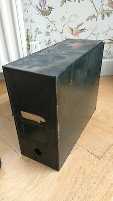 Reclaimed vintage metal box files a4 size