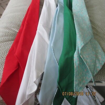 #9- LOT OF 5- classic western scarf ties ,Perfect for square dance outfits,