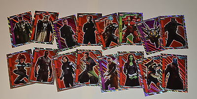 Topps Marvel Hero Attax Missions Trading Card Game SET = HOLOFOIL (16 cards)