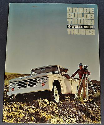 1965 early Dodge 4-Wheel Drive Truck Brochure Pickup Power Wagon Excellent Orig