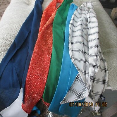 #22- LOT OF 5 -classic western scarf ties ,Perfect for square dance outfits, .
