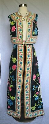 Vintage 60's Two Piece Signed Velet Psychedelic Set By Mr. Dino Size M/l?