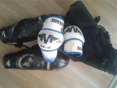Ice/inline skating shorts, helmet, gloves, skates, elbow and knee guards