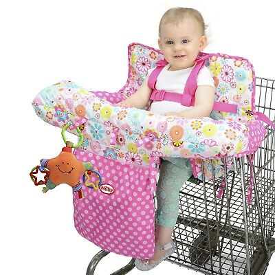 New Nuby Baby Shopping Cart Cover Floral sitting Eating Washable HIgh Chair Seat