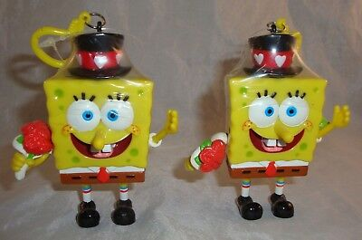 2003 Spongebob Valentine Candy Buddy Dispenser Clip On Lot of 2 NOS