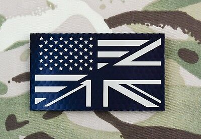 Infrared US/UK Friendship Flag Patch US UK Military Joint Ops IR VELCRO® Brand