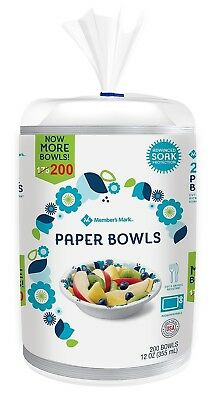 Member's Mark 12oz Paper Bowls Microwavable Bulk Pack 200ct