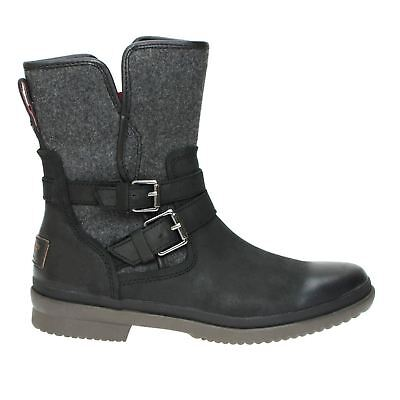 d88214771ae Ugg Simmens Black Waterproof Buckle Ankle Boots Size Us 8/uk 6.5/eu 39 New