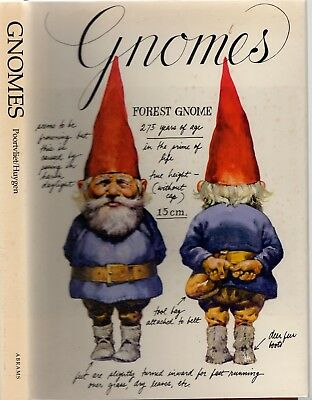 GNOMES - WIL HUYGEN Beautifully Illustrated By RIEN POORTVLIET 1977 HCDJ