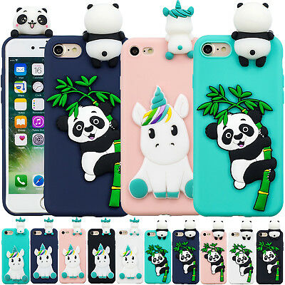 Kawaii 3D Cartoon Animal Soft Silicone Rubber Phone Case Cover For Apple iPhone